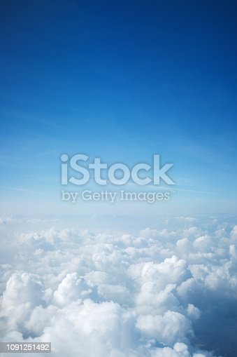 Flight above beautiful clouds