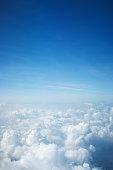 Flight above beautiful clouds