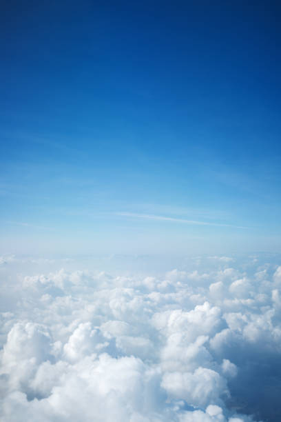 flight above beautiful clouds - clouds imagens e fotografias de stock
