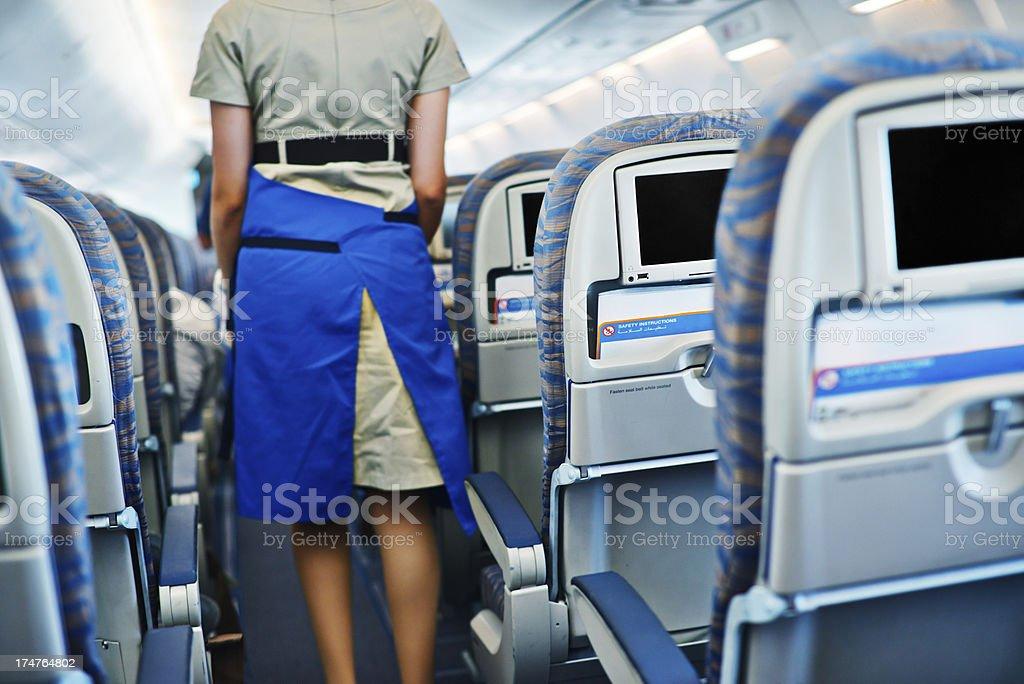 Flight attendant royalty-free stock photo