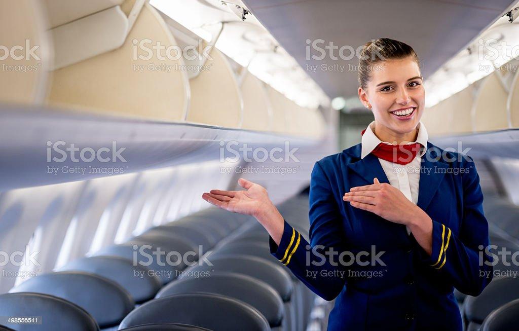 Asistente de vuelo - foto de stock