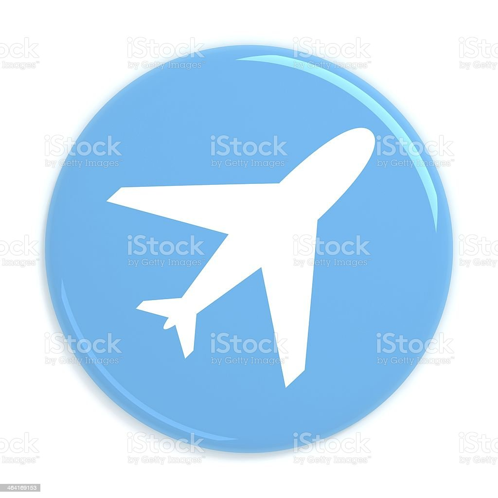 Flight booking button stock photo