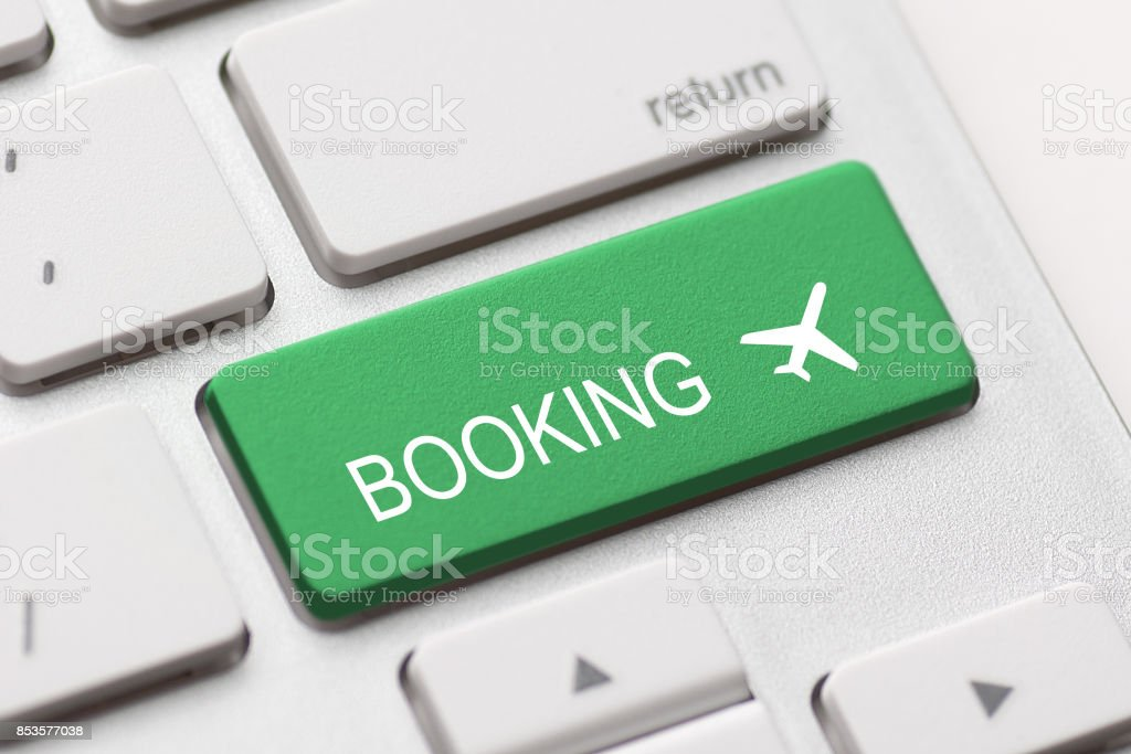 flight booking keyboard plane travel fly check buy stock photo