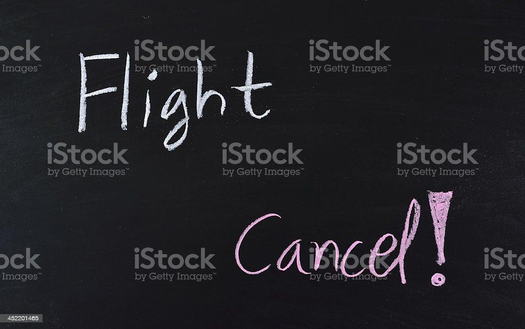 flight cancel text royalty-free stock photo