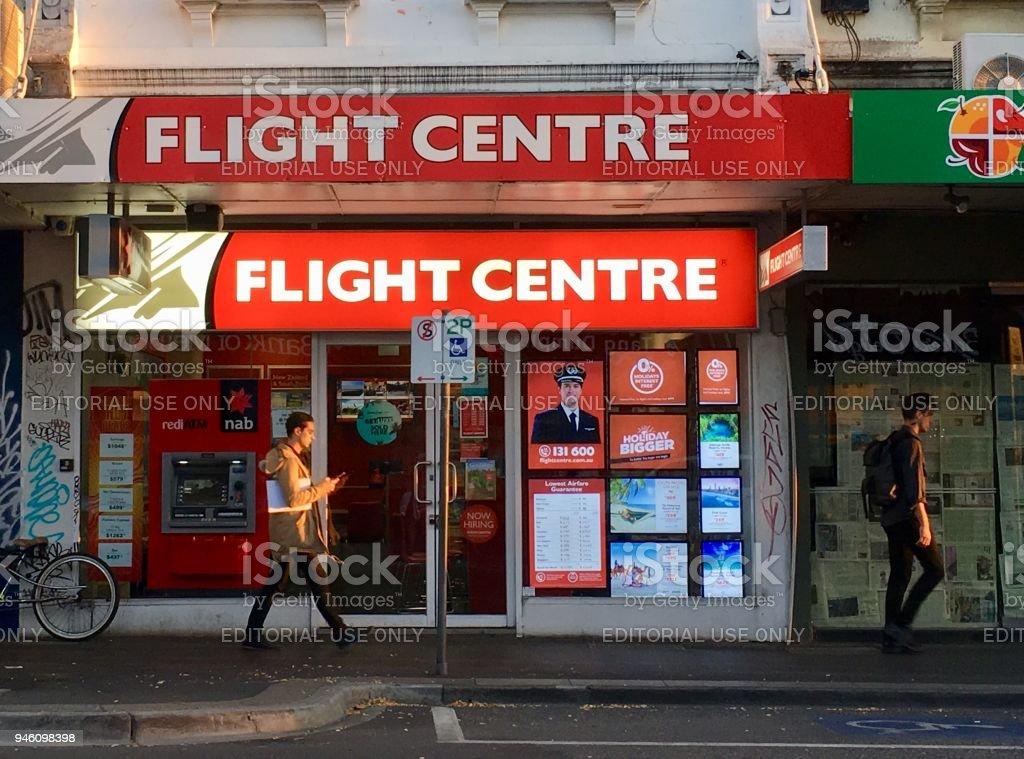 Frente de loja de centro de voo - foto de acervo