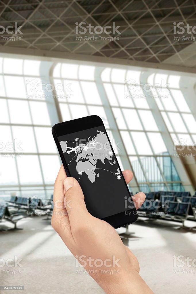 Flight check in Heydar Aliyev International Airport,Baku,Azerbaijan. stock photo