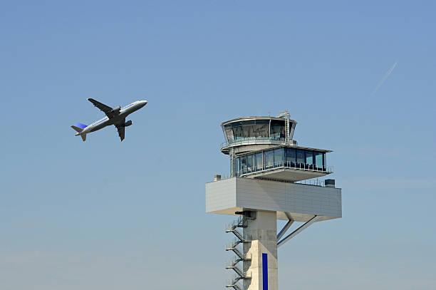 Flight control stock photo