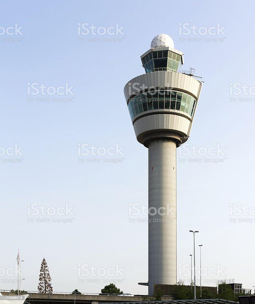 Flight control tower royalty-free stock photo