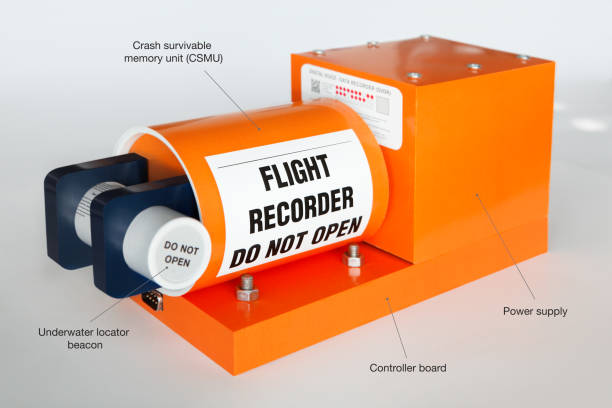 flight data recorder black box - recorder stock photos and pictures