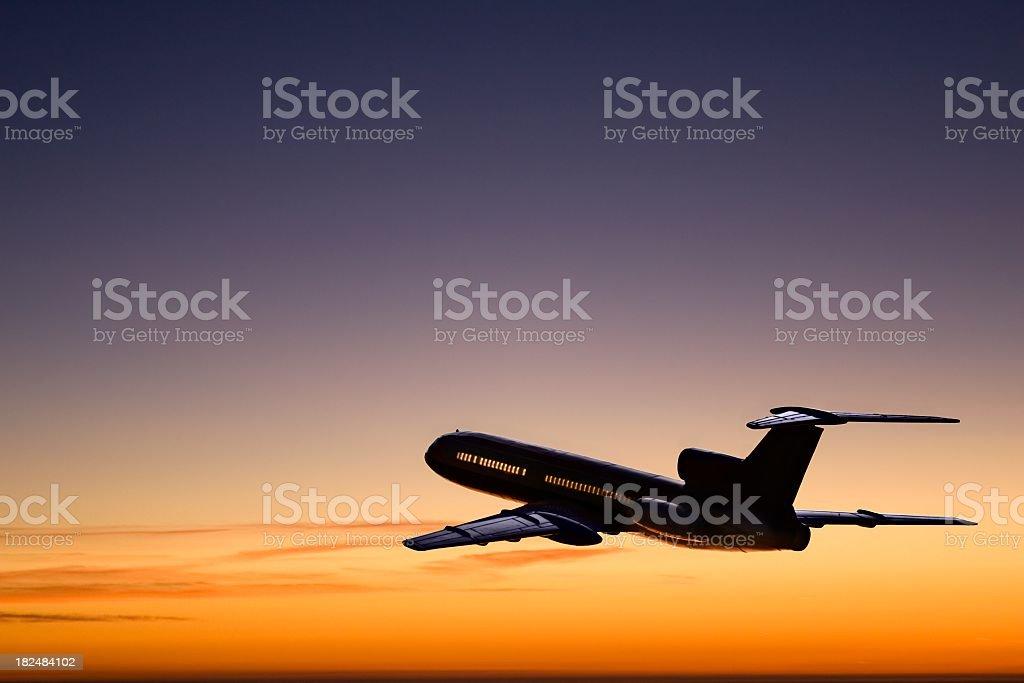 Sonnenuntergang Flug – Foto