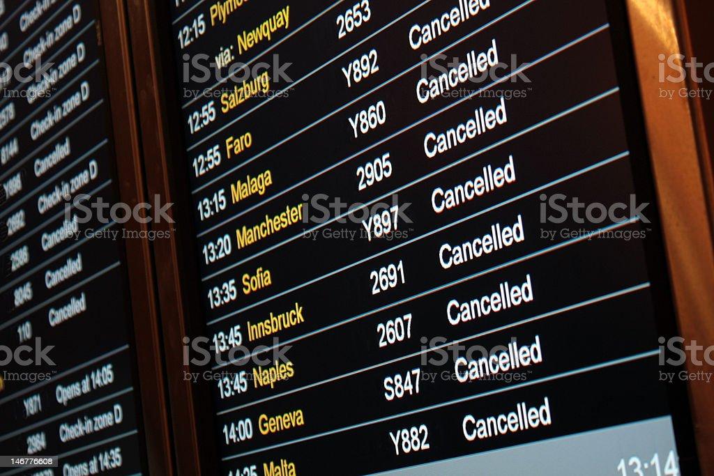 Flight Departures Board stock photo