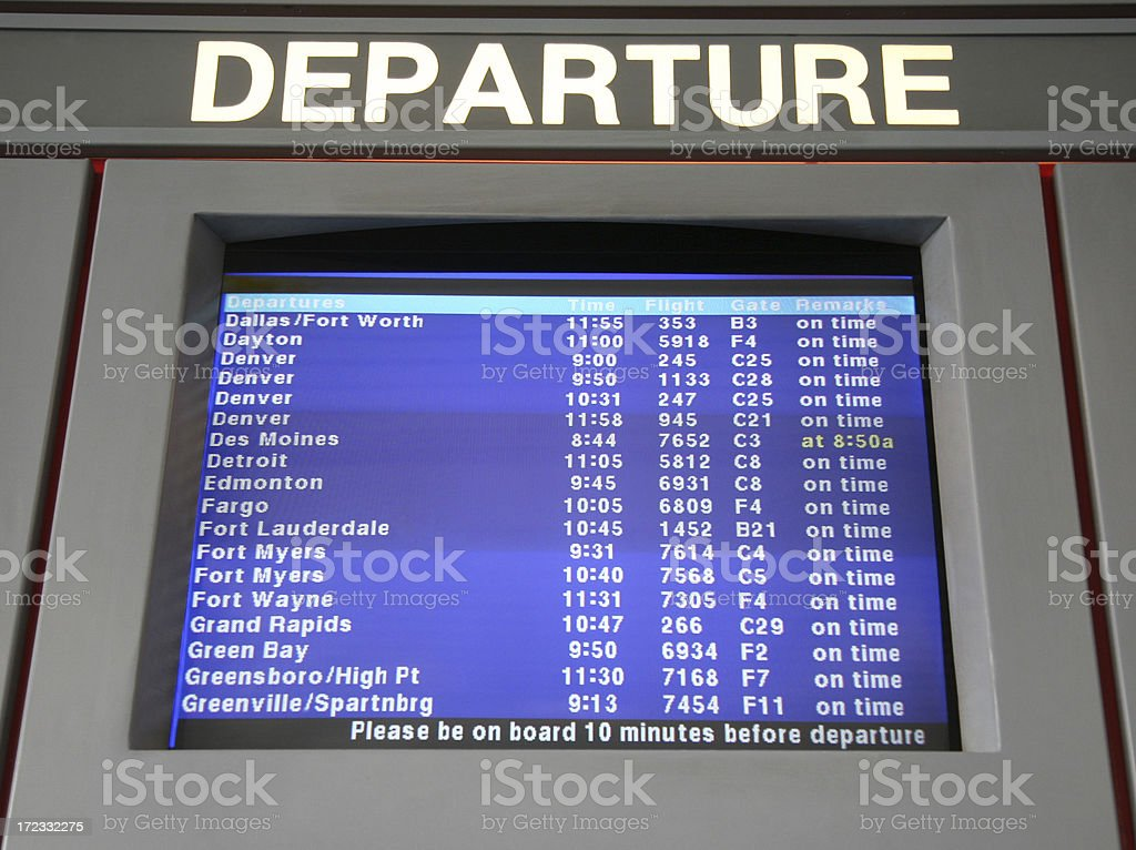 exclusive deals official photos low price sale Flight Departures Monitor At Airport Stock Photo - Download ...