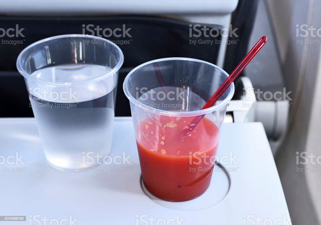 flight drinks stock photo
