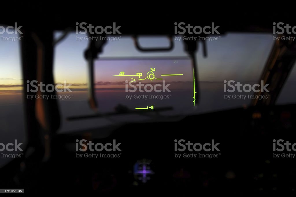 Flight Dynamics Heads up Guidance System royalty-free stock photo