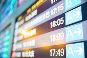 Flight information in airport