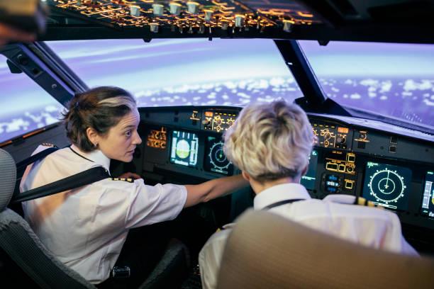 Fluglehrer Beschreibung Zifferblätter und Displays für Flugschüler – Foto