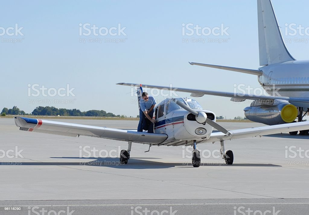 flight lesson royalty-free stock photo