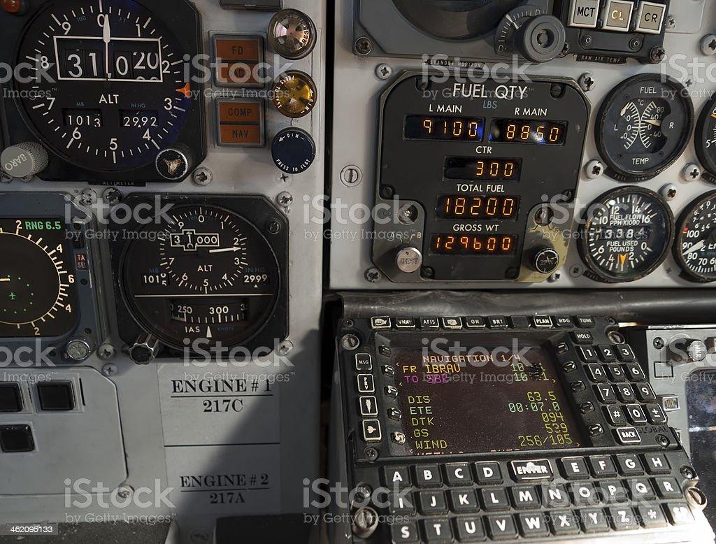 Flight management system royalty-free stock photo