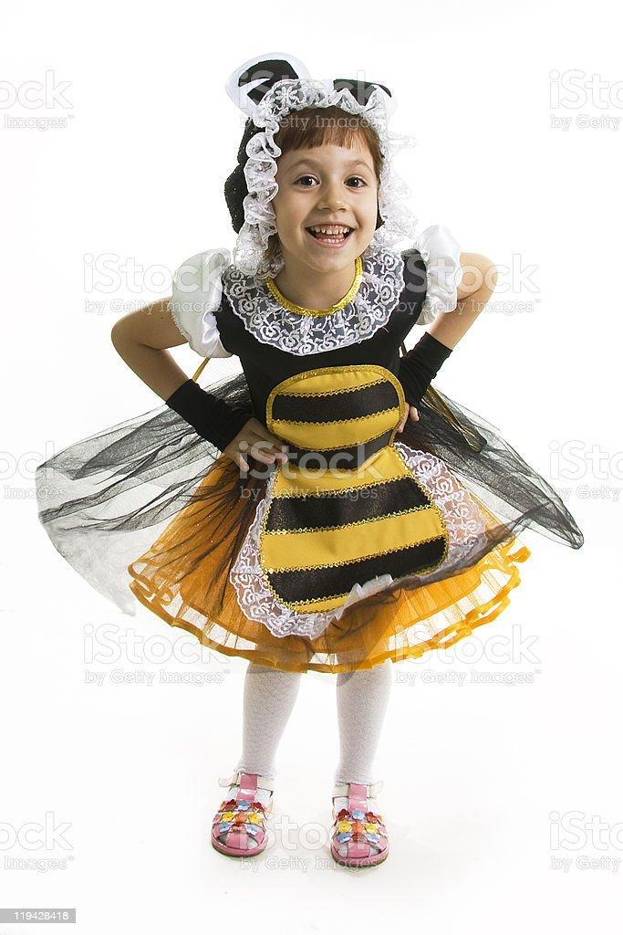 Flight of a bee stock photo