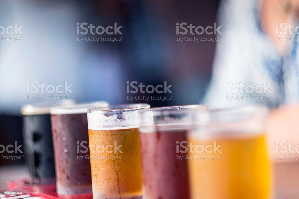 Flight of Beers stock photo