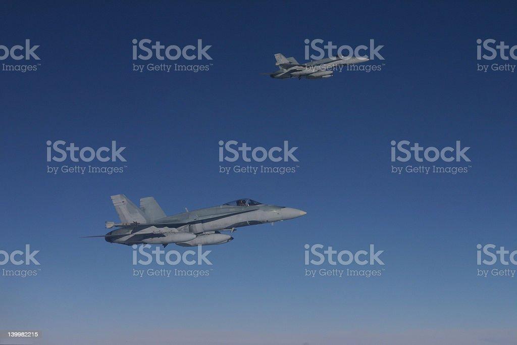 flight of two stock photo
