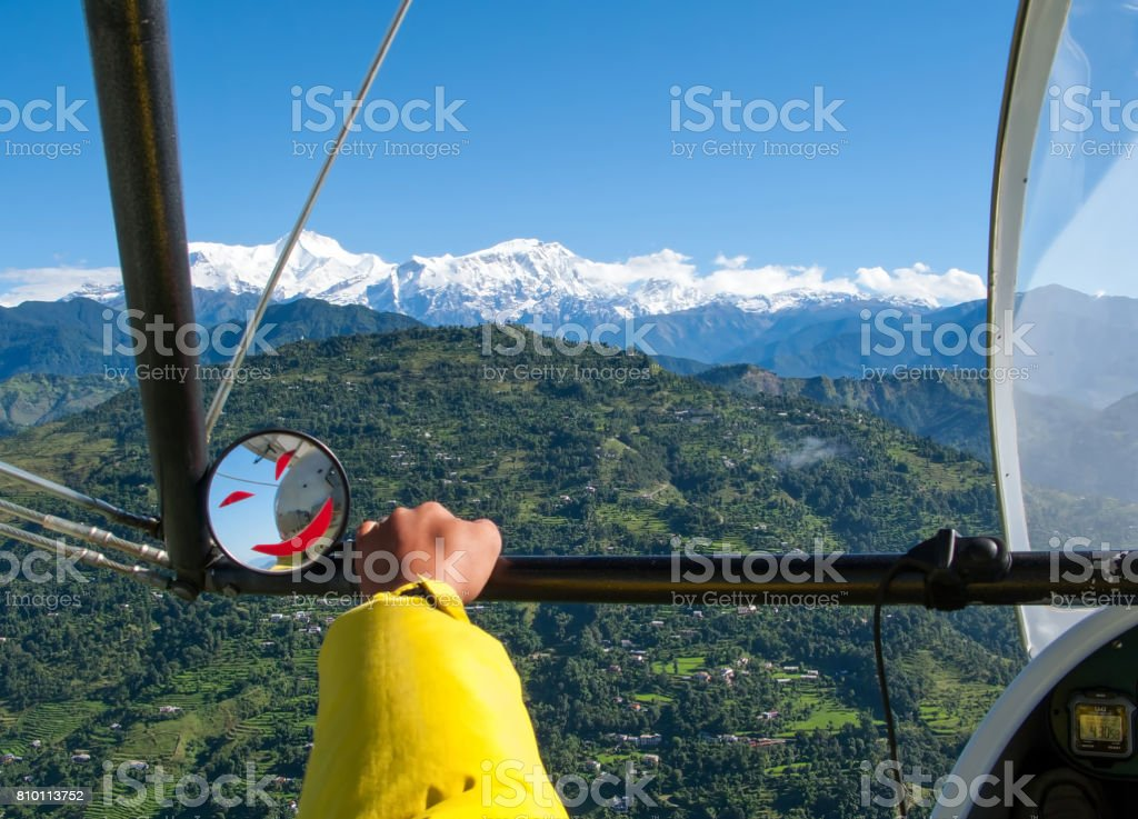 Pokhara Nepal Flight On A Hang Glider Shooting Pokhara From