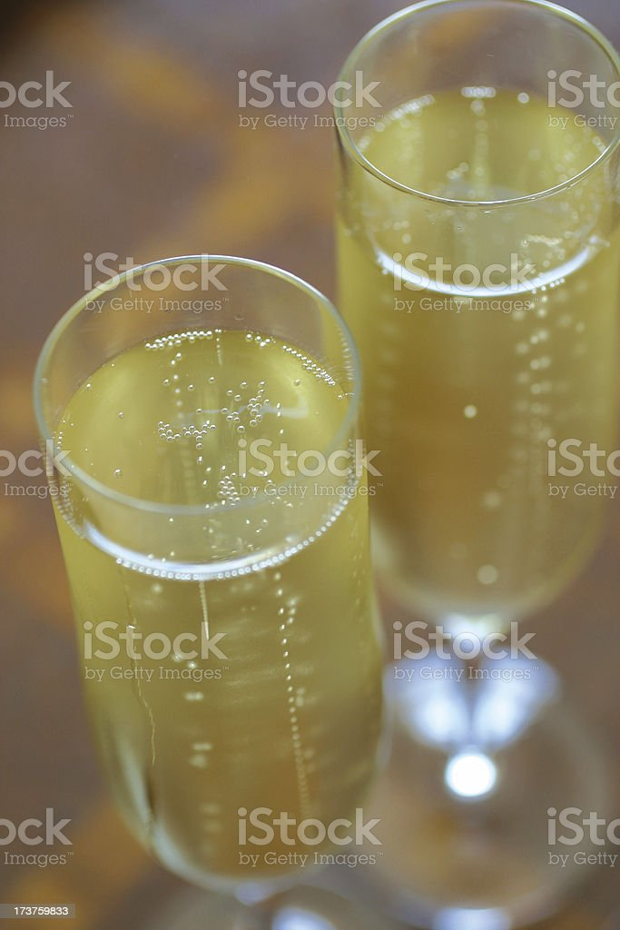 Flight over Bubbles of Champagne royalty-free stock photo