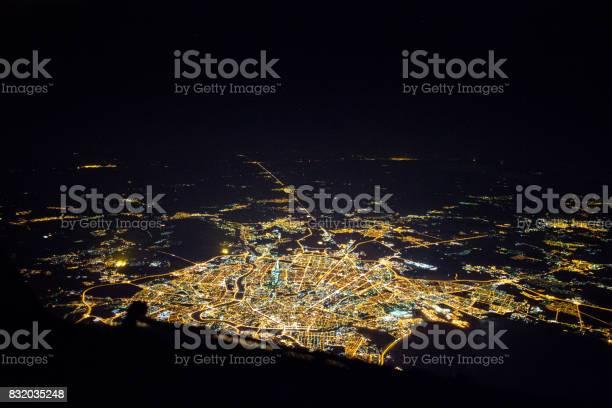 Photo of Flight over Sankt Petersburg at night