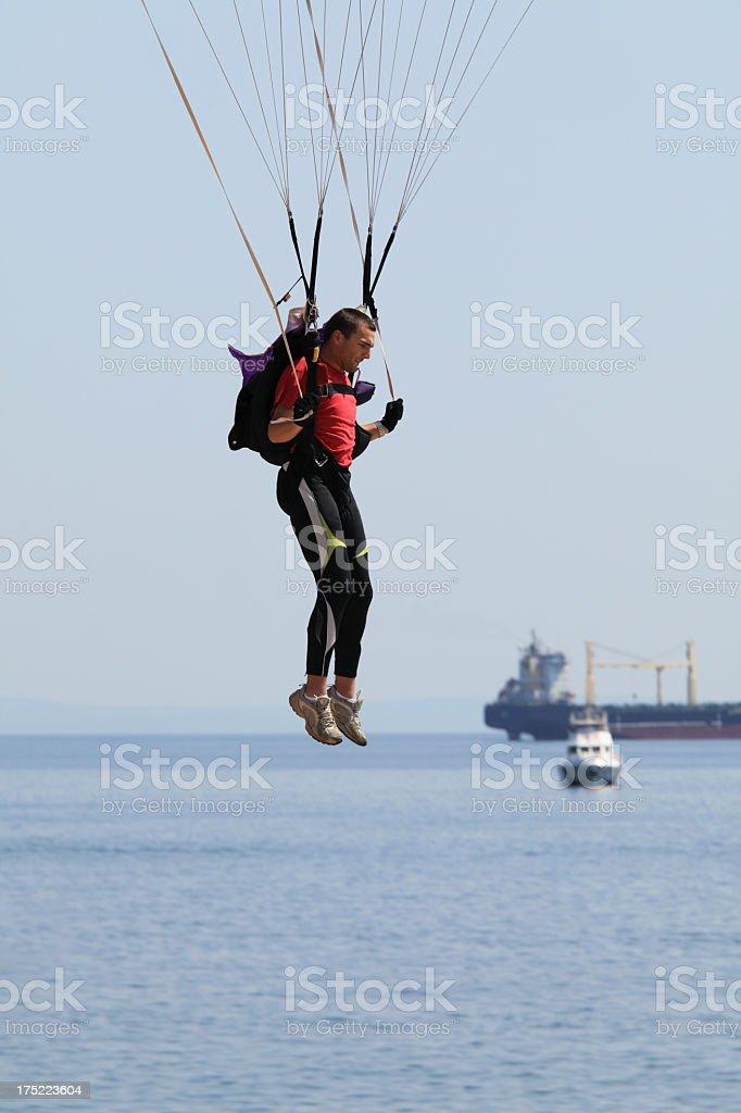 Flight over sea royalty-free stock photo