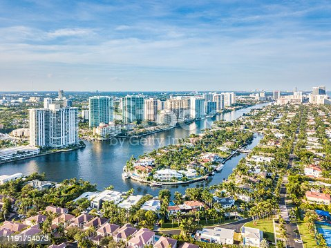 istock Flight over the Atlantic Coast of South Florida 1191754073