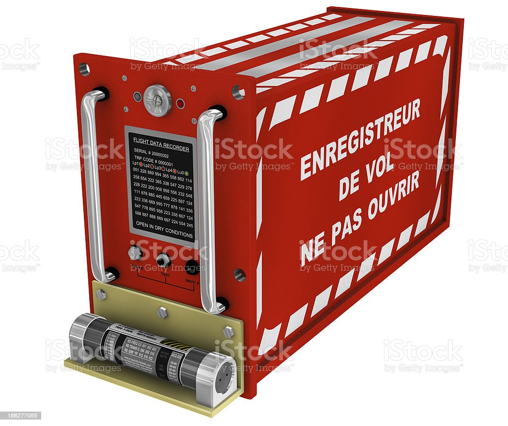 Flight Recorder French Sign 3D stock photo
