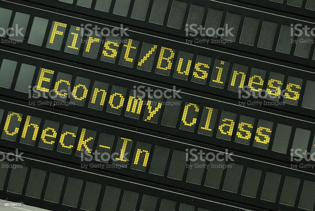 Flight schedule royalty-free stock photo