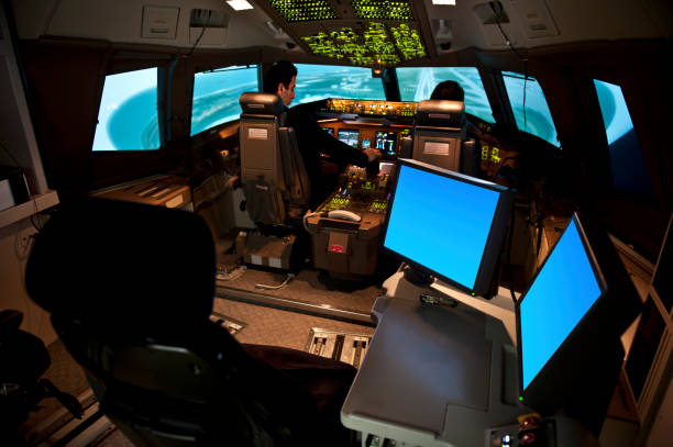 Flight Simulator stock photo