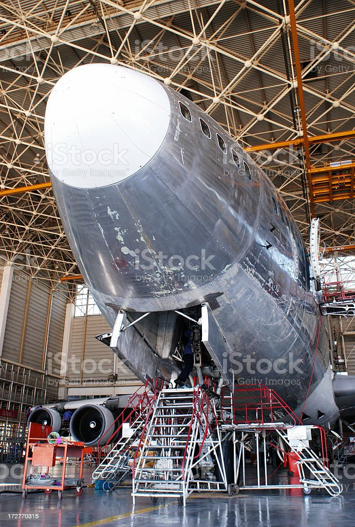Flight under Maintenance royalty-free stock photo