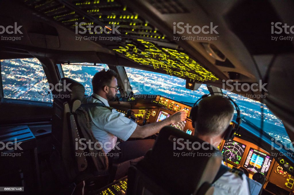 Flightdeck View stock photo