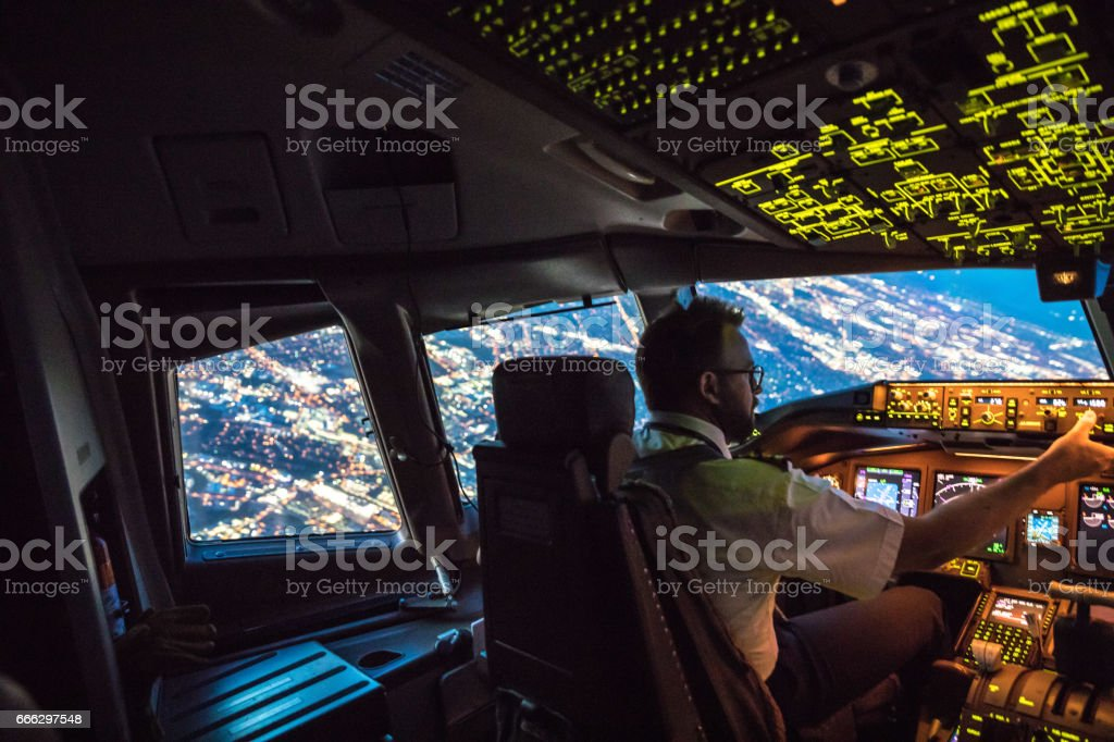 Flightdeck View stock photo