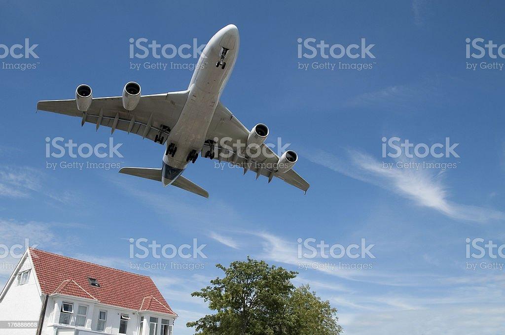 flightpath royalty-free stock photo