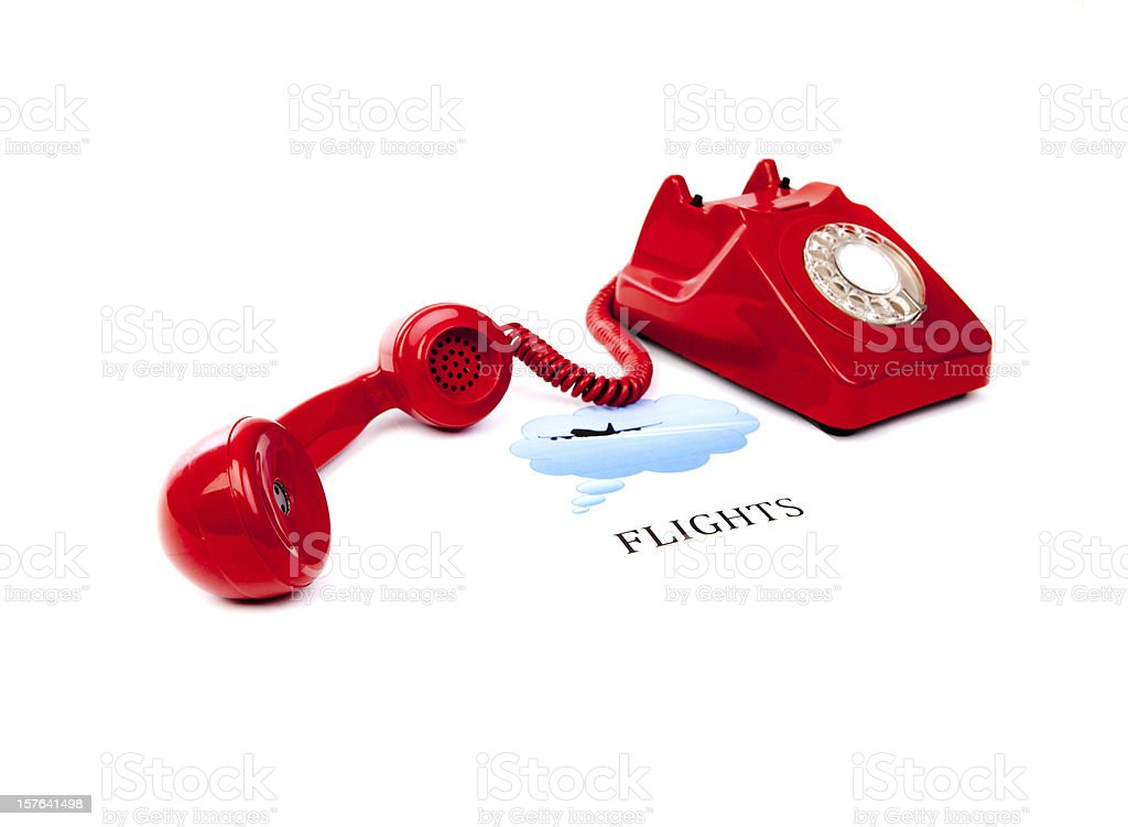 Flights hotline stock photo