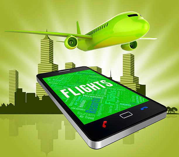flights online represents web site and aircraft - flugticket vergleich stock-fotos und bilder