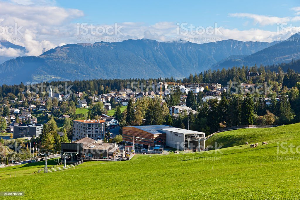 Flims Chairlift and Funicular stock photo