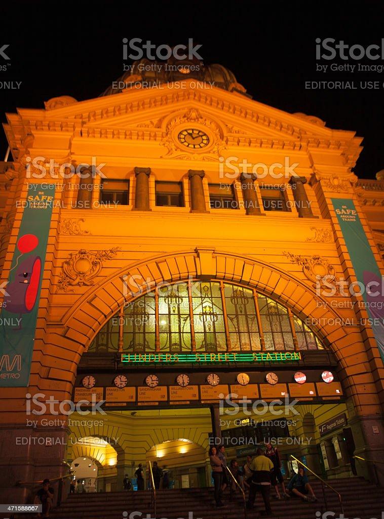 Flinder St. Station royalty-free stock photo