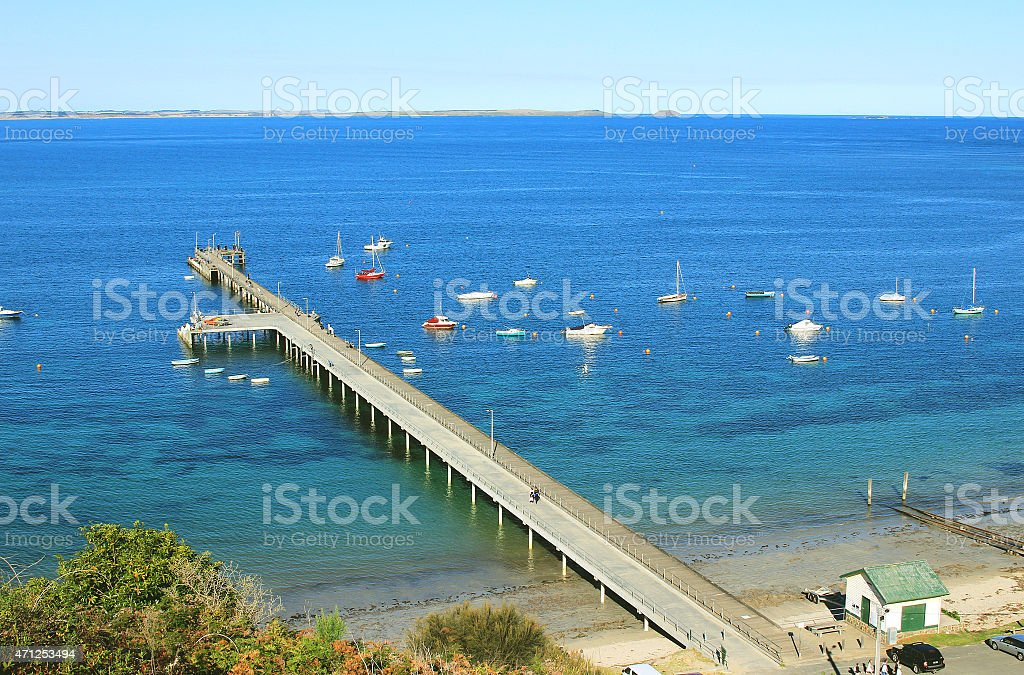 Flinders Pier, Victoria, Australia stock photo