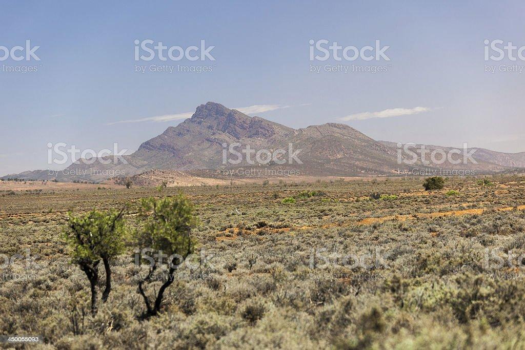 Flinders Ranges Landscape. South Australia stock photo