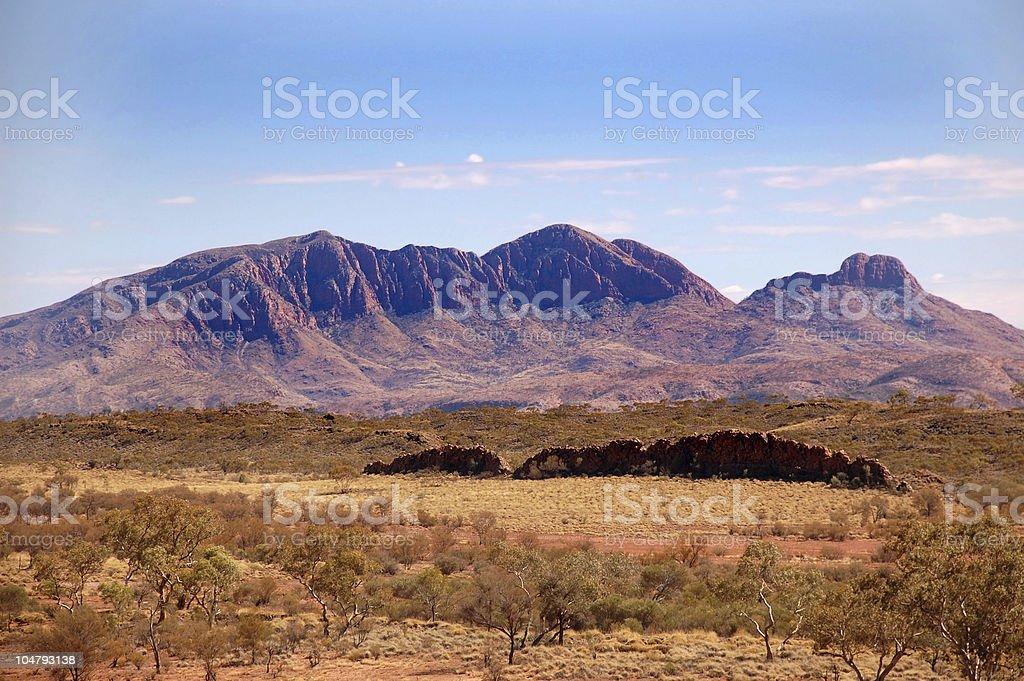 Flinders Ranges mountains in Australia stock photo
