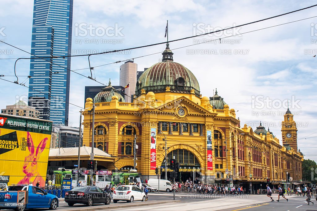 Flinders station stock photo