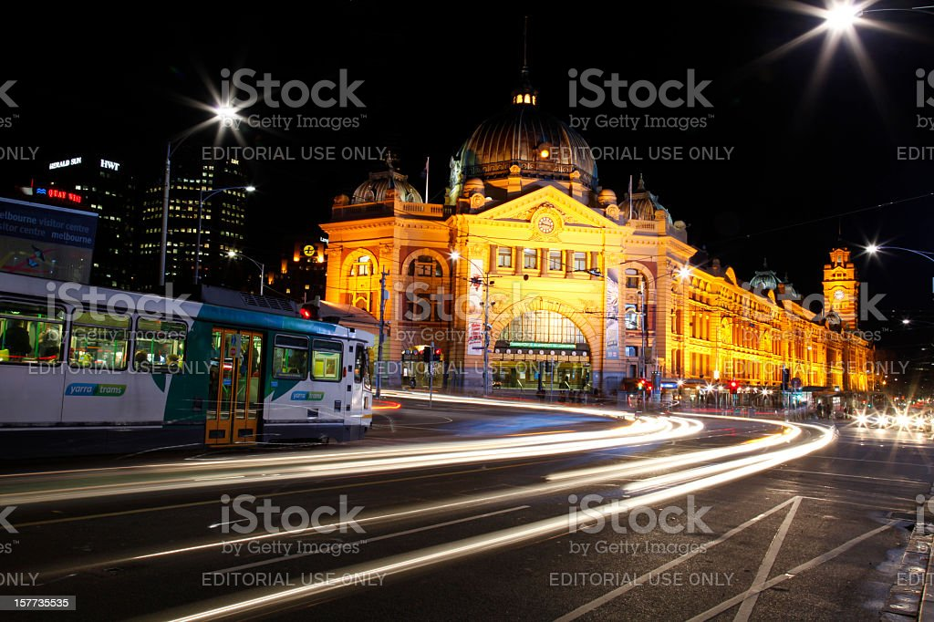 Flinders Street Station, Melbourne, Australia stock photo
