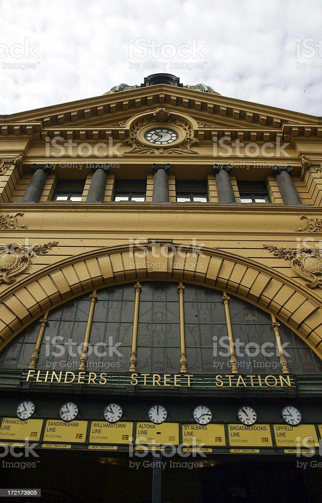 Flinders Street Station Melbourne royalty-free stock photo