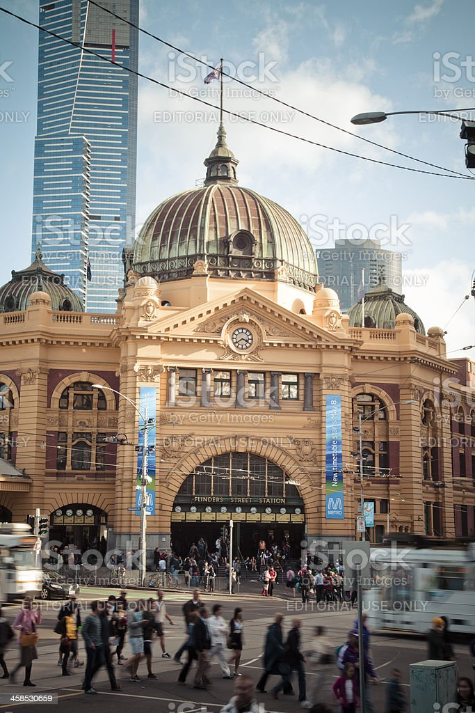Flinders Street Station royalty-free stock photo