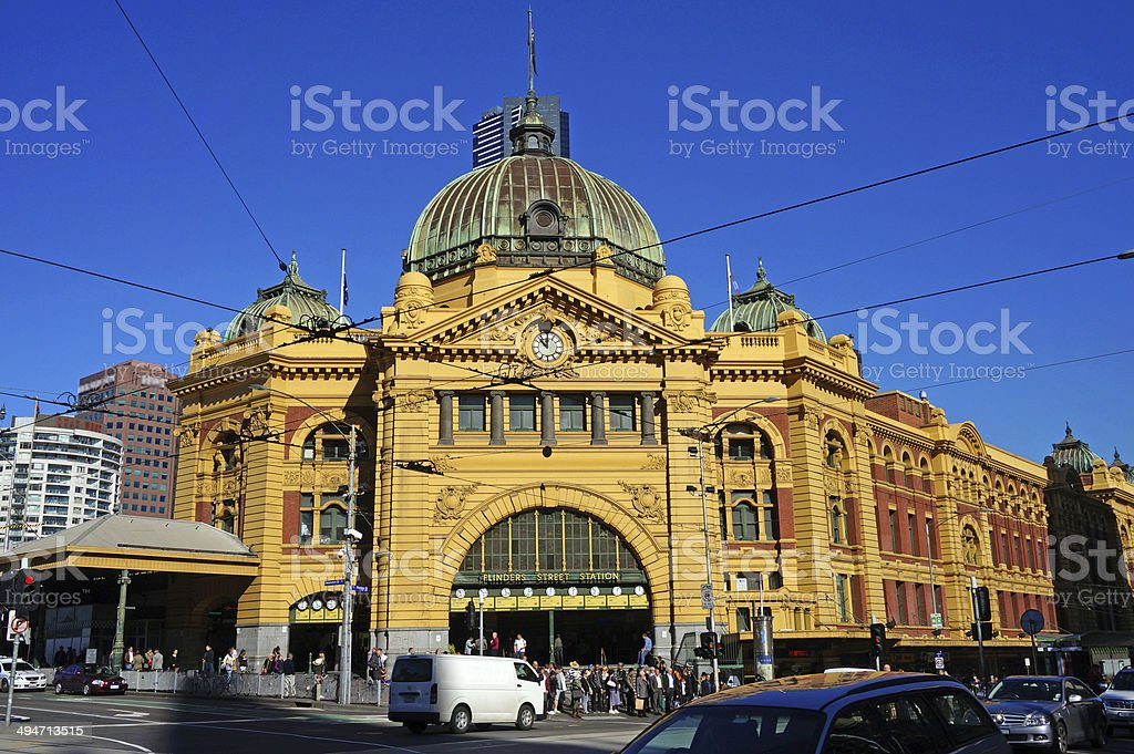 Flinders Street Station (Melbourne, Australia) stock photo