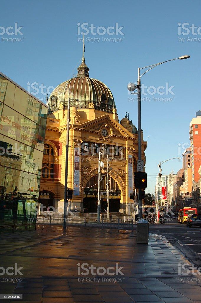 Flinders Street Station royalty-free stock photo
